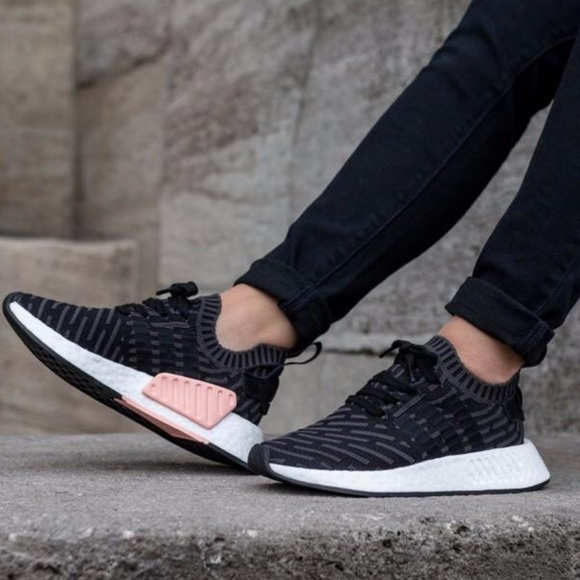 8e43912a4 AUTHENTIC adidas NMD R2 Primeknit Black Pink NWT